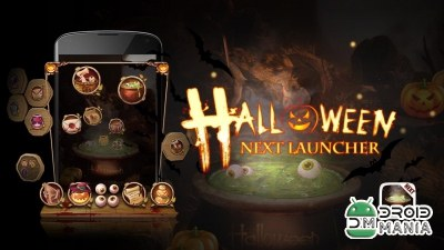 Скриншот Next Launcher Theme Halloween (Unlocked) №1