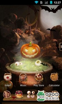 Скриншот Next Launcher Theme Halloween (Unlocked) №2