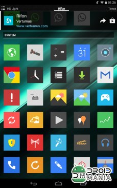 Скриншот Rifon - Icon Pack №3