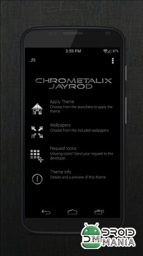 Скриншот Black Chrometalix - Icon Pack №1
