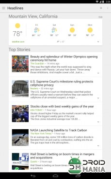 Скриншот Google News & Weather №1