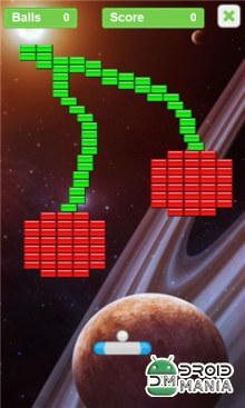 Скриншот Arkanoid - Bricks in Space №3