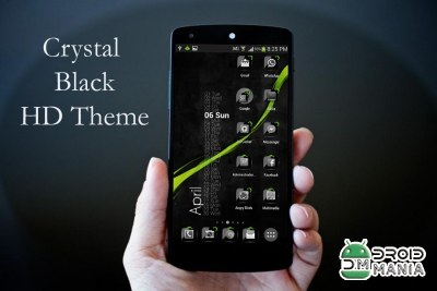 Скриншот ADW Theme Crystal Black HD №2