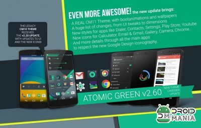 Скриншот Atomic Green CM11 Theme №2