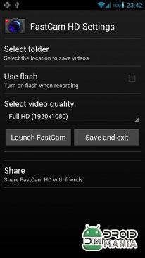 Скриншот FastCam HD Quick Video Camera №2