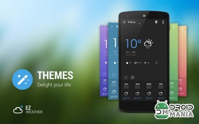 Скриншот EZ Weather HD Beautiful Widget Premium №1