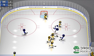 Скриншот Stickman Ice Hockey №3