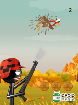 Скриншот Stickman Turkey Hunter Free №2