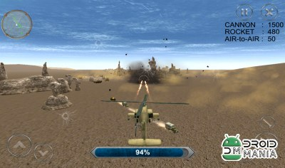 Скриншот Gunship Combat Helicopter War №3