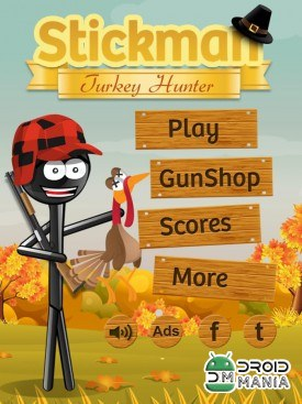 Скриншот Stickman Turkey Hunter Free №1
