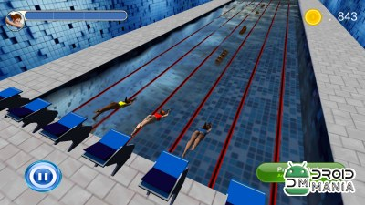 Скриншот Swimming Race 3D №2