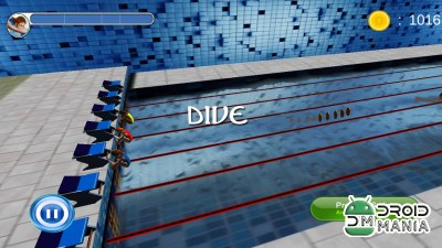 Скриншот Swimming Race 3D №3
