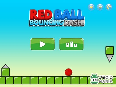 Скриншот Red Ball Bouncing Dodge Dash 2 №1