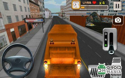 Скриншот City Garbage Cleaner Truck 3D №2