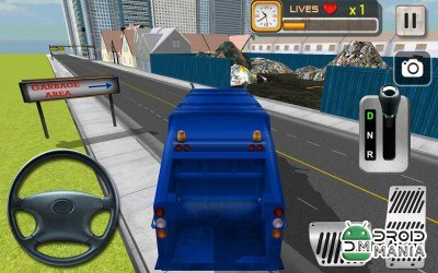 Скриншот City Garbage Cleaner Truck 3D №3