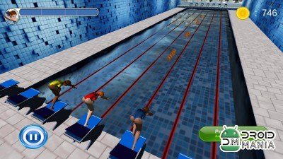 Скриншот Swimming Race 3D №4