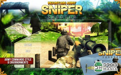 Скриншот Mountain Army Sniper Shooter №4