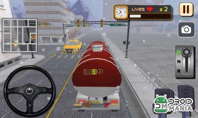 Скриншот Oil Truck Simulator 3D №3