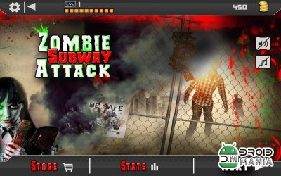 Скриншот Angry Zombie Subway Attack 3D №2