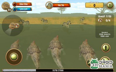 Скриншот Wild Crocodile Simulator 3D №2