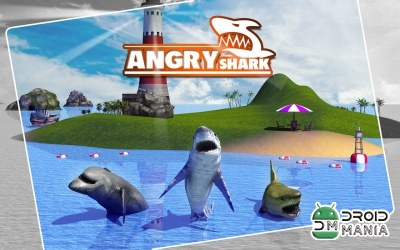 Скриншот Angry Shark Simulator 3D №2