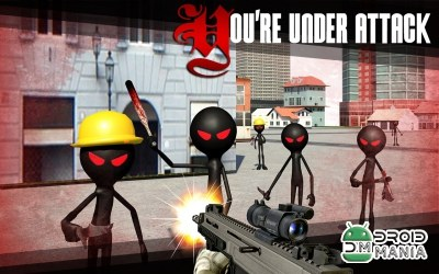 Скриншот Stickman Shooter 3D №3