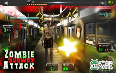 Скриншот Angry Zombie Subway Attack 3D №3