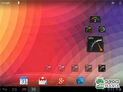 Скриншот Gauge Battery Widget 2014 №3